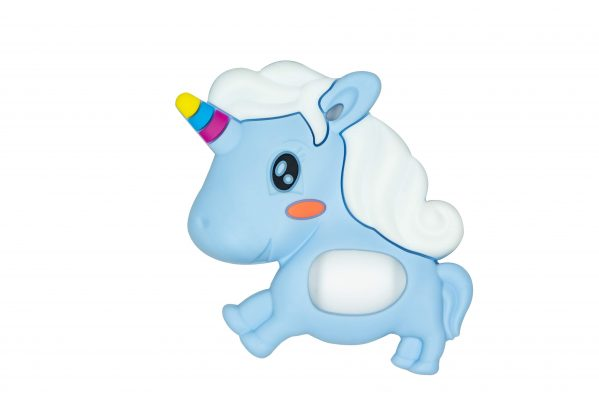 Teether Unicorn Bleu